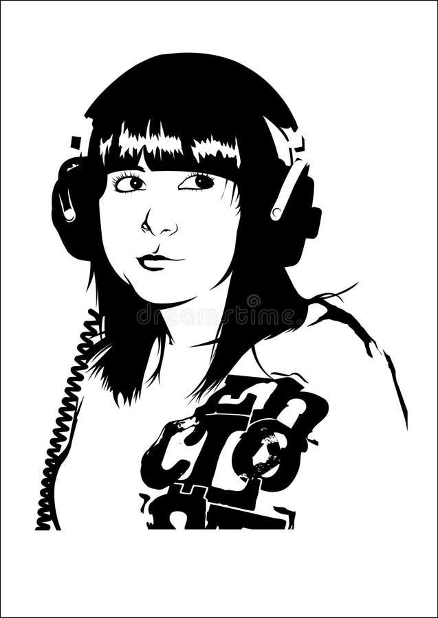 dziewczyny muzyki ilustracja wektor
