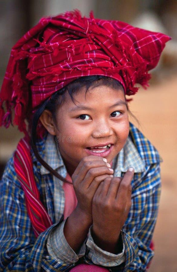 dziewczyny Myanmar o pa plemię fotografia royalty free