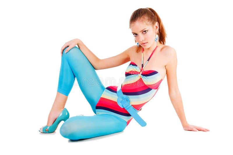 dziewczyny nęcący piękny swimsuit fotografia royalty free