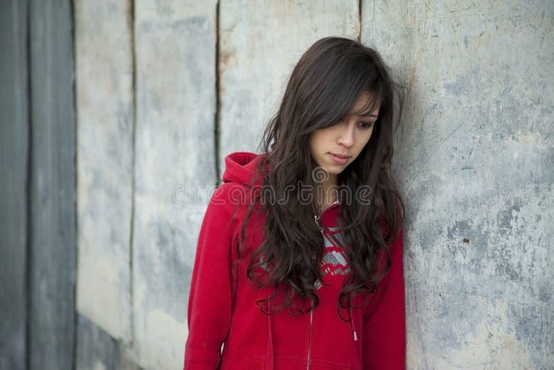 dziewczyny nastoletni smutny obraz stock