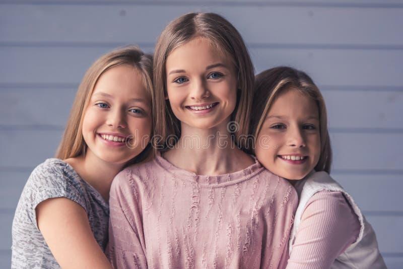 dziewczyny nastoletni trzy obrazy stock