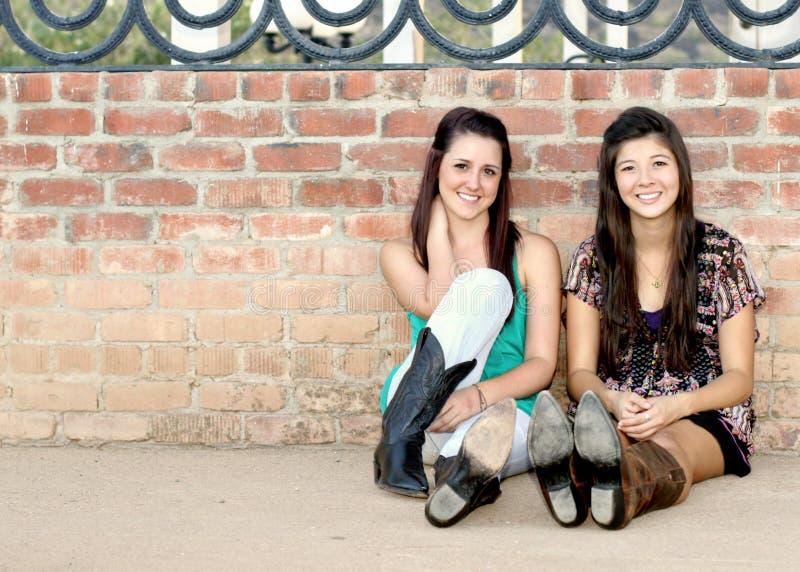 dziewczyny nastoletni wielorasowy fotografia royalty free