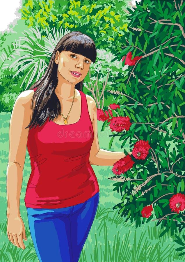 dziewczyny natura ilustracja wektor