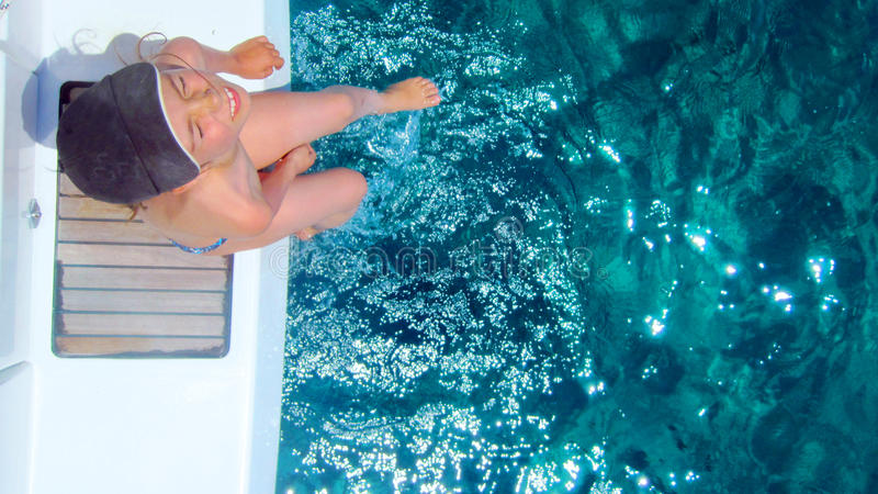 dziewczyny nurkowa platforma zdjęcia royalty free