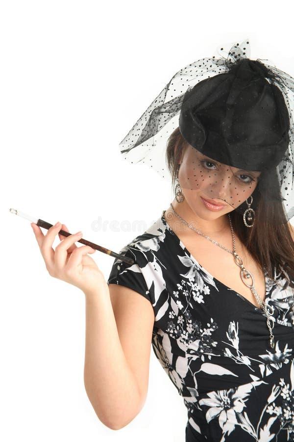 dziewczyny papierosowa przesłona obrazy royalty free