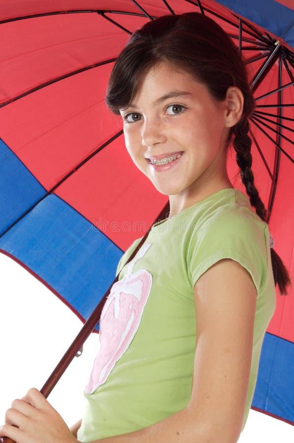 dziewczyny parasol gospodarstwa zdjęcie stock