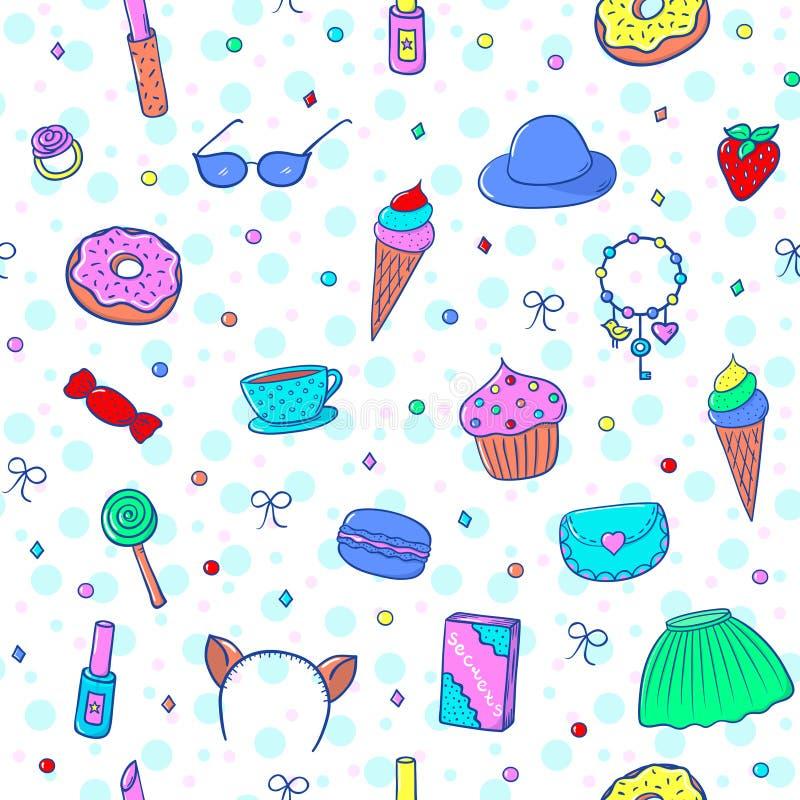 Dziewczyny Pattern-02 royalty ilustracja