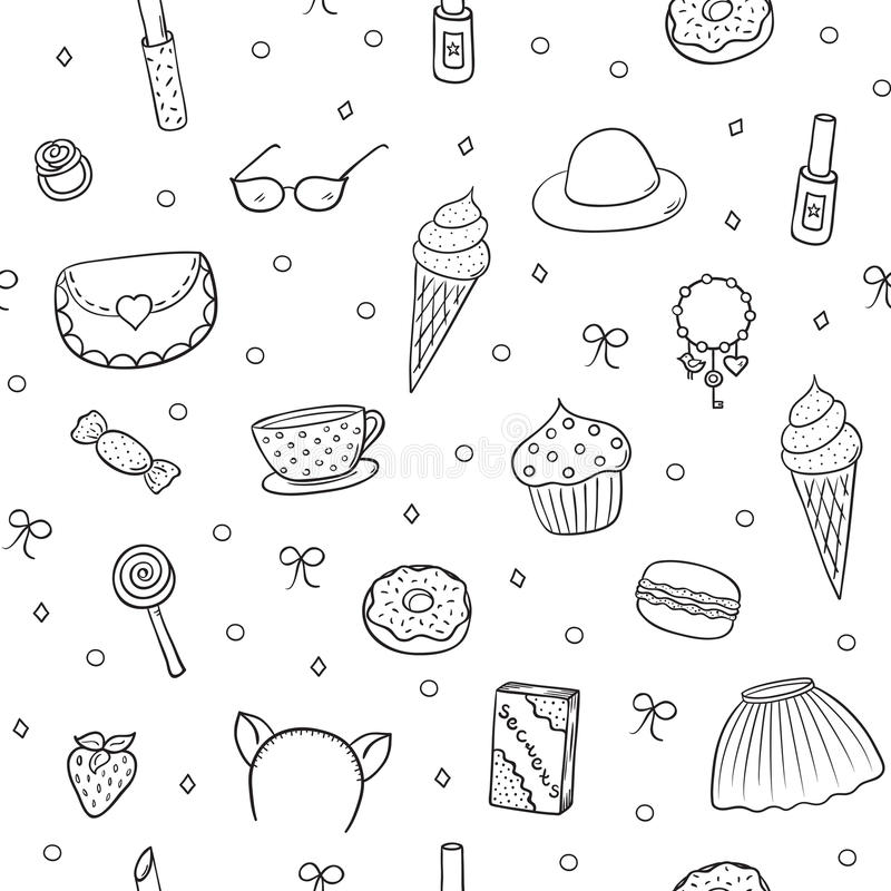 Dziewczyny Pattern-03 ilustracja wektor