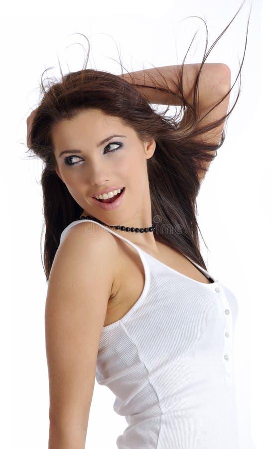 dziewczyny piękna fryzura zdjęcie stock