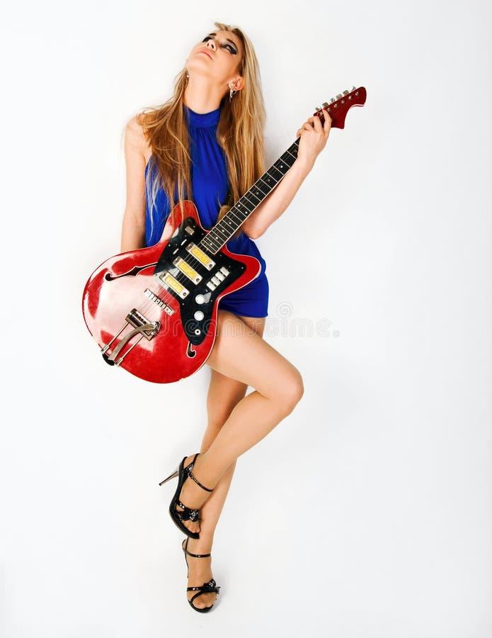 dziewczyny piękna gitara zdjęcia royalty free