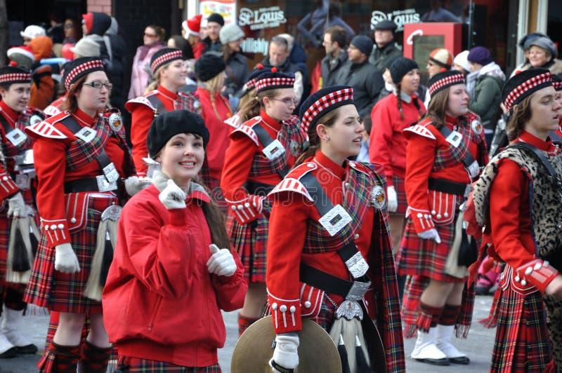 dziewczyny piękna parada Santa obraz stock