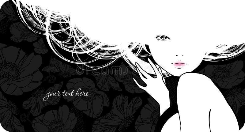 dziewczyny piękna sylwetka ilustracja wektor