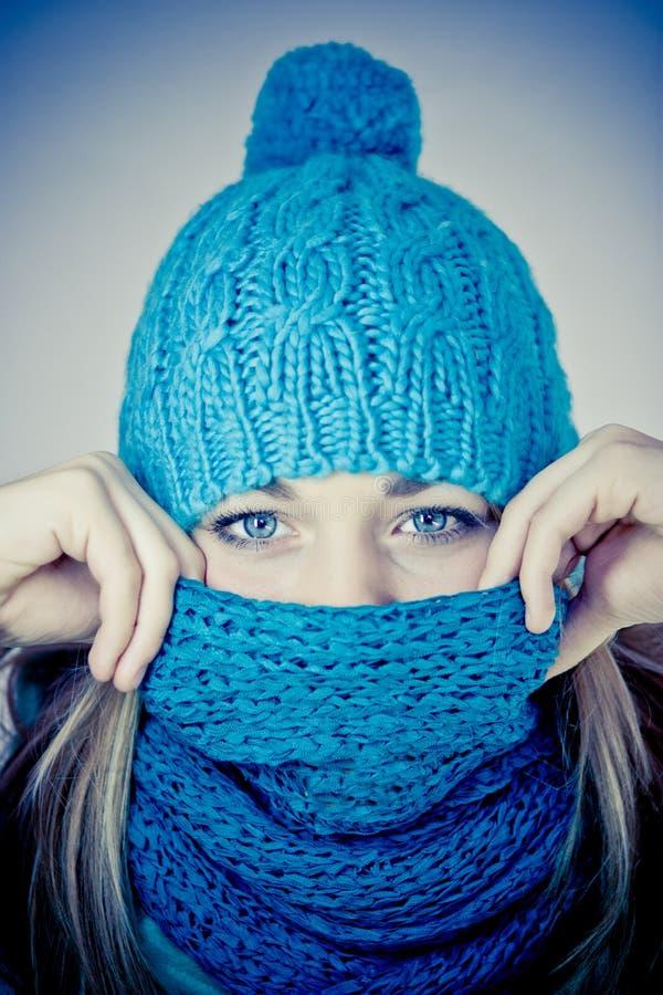 dziewczyny piękna zima zdjęcie stock