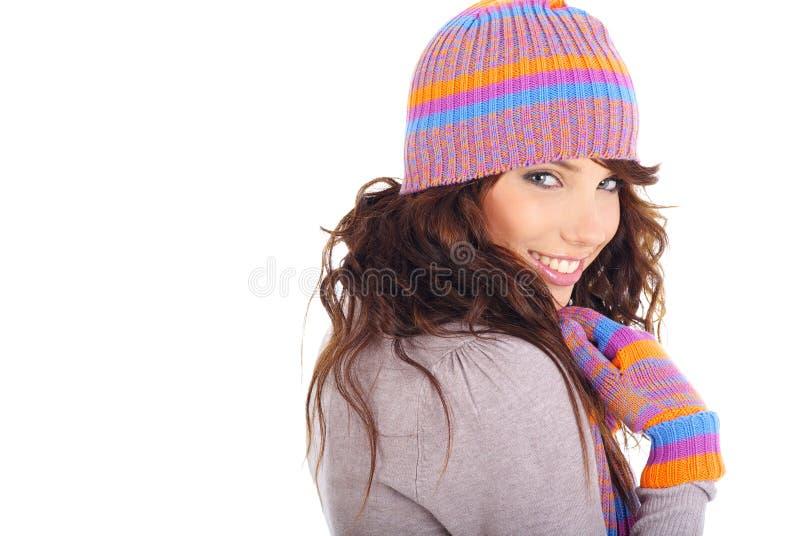 dziewczyny piękna zima obrazy stock