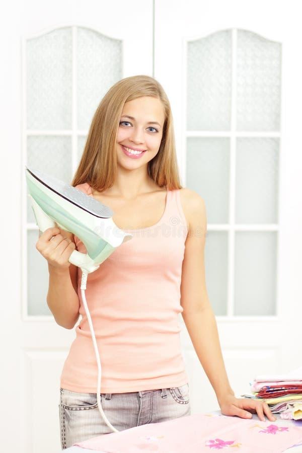 dziewczyny piękny żelazo zdjęcie royalty free