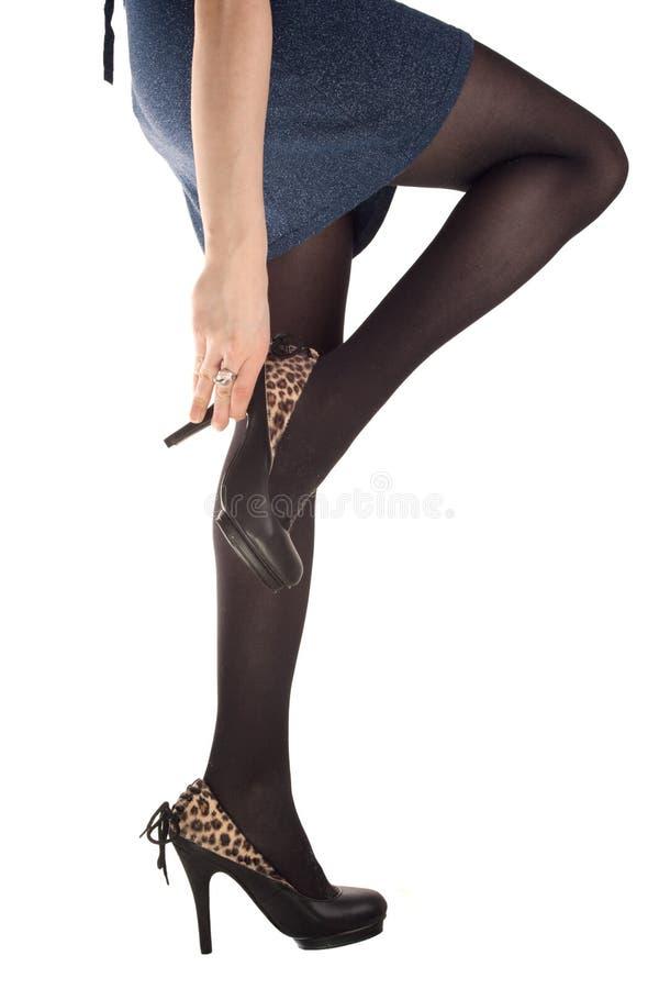 dziewczyny pięt nogi zdjęcia stock