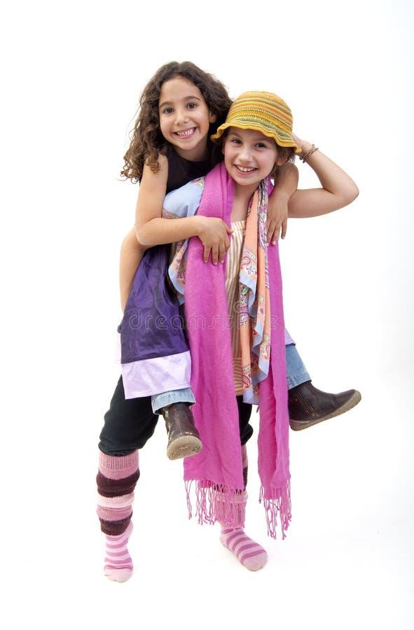 dziewczyny piggyback obraz stock