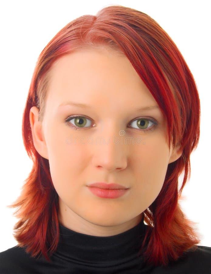 Dziewczyny Portreta Biel Potomstwa Fotografia Stock