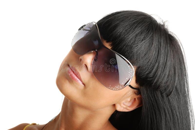 dziewczyny portreta okulary przeciwsłoneczne młodzi obraz royalty free
