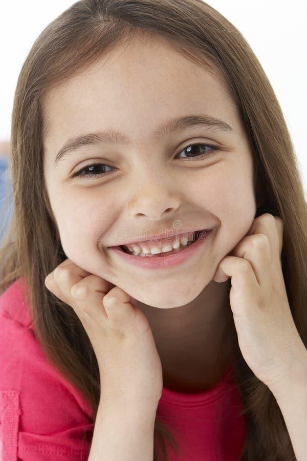 dziewczyny portreta uśmiechnięty studio obraz stock