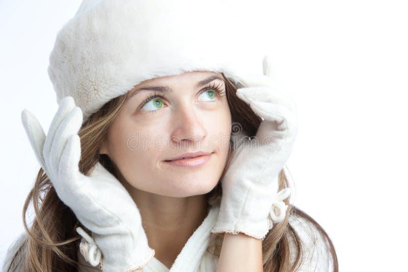 dziewczyny portreta zima obrazy stock