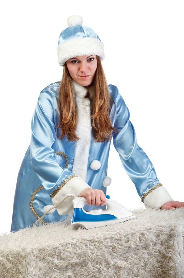dziewczyny praca domowa Santa zdjęcie stock
