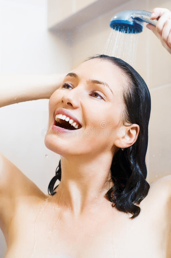 dziewczyny prysznic zdjęcie stock
