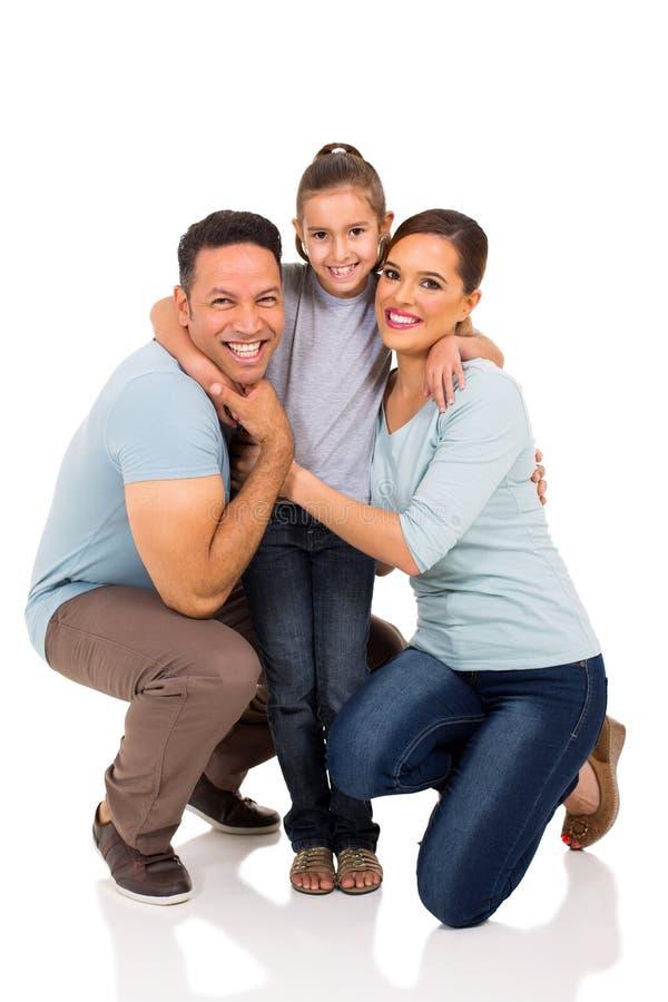 Dziewczyny przytulenia rodzice obraz stock