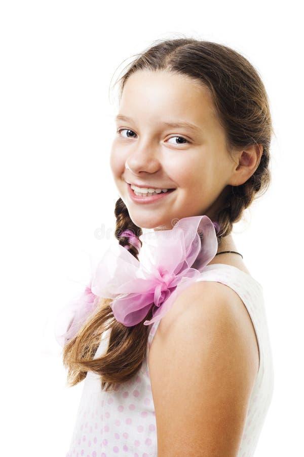 dziewczyny różowy portait pozytywu nastolatek zdjęcie royalty free