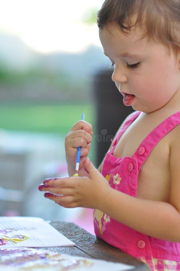 dziewczyny ręki mały obraz zdjęcia stock