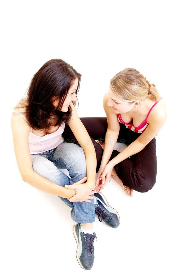 Download Dziewczyny rozmowy obraz stock. Obraz złożonej z spodnia - 137459