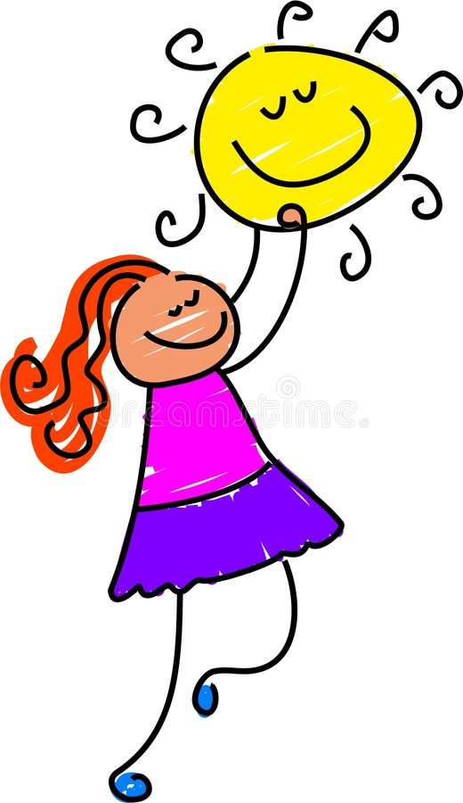 dziewczyny słońce ilustracji