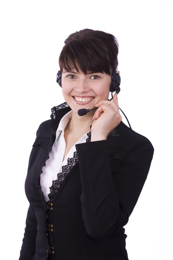 Download Dziewczyny słuchawki zdjęcie stock. Obraz złożonej z biznes - 13336854