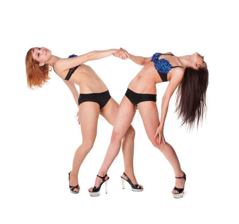 dziewczyny seksowni dwa zdjęcie royalty free