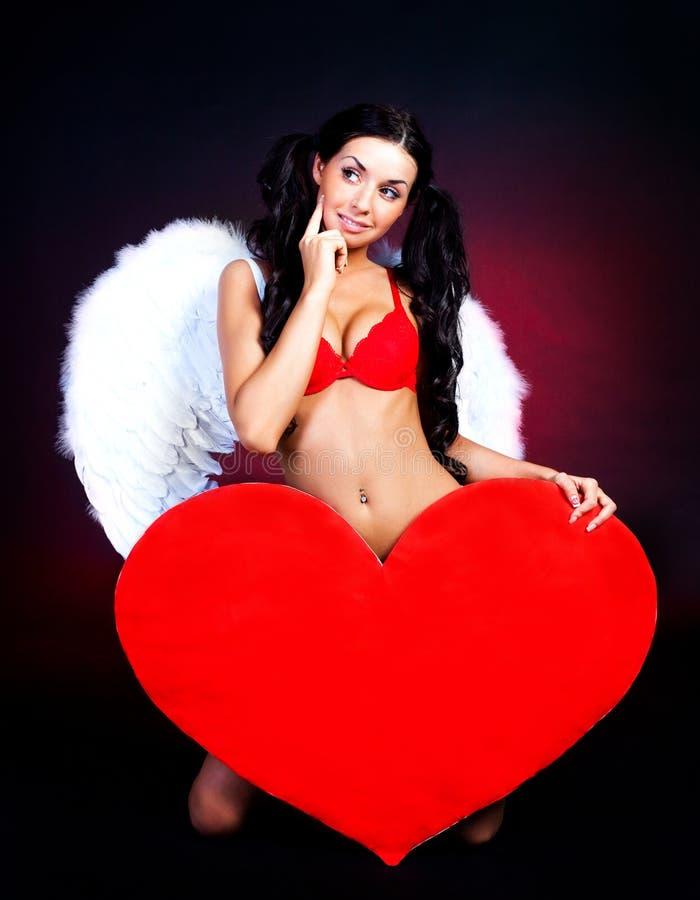 dziewczyny serce obrazy stock