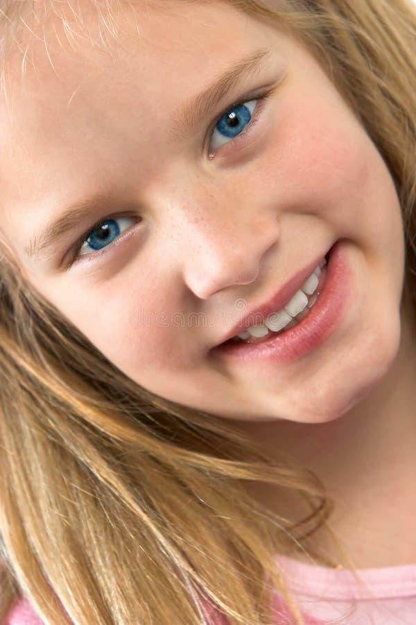 dziewczyny się uśmiecha zdjęcie stock