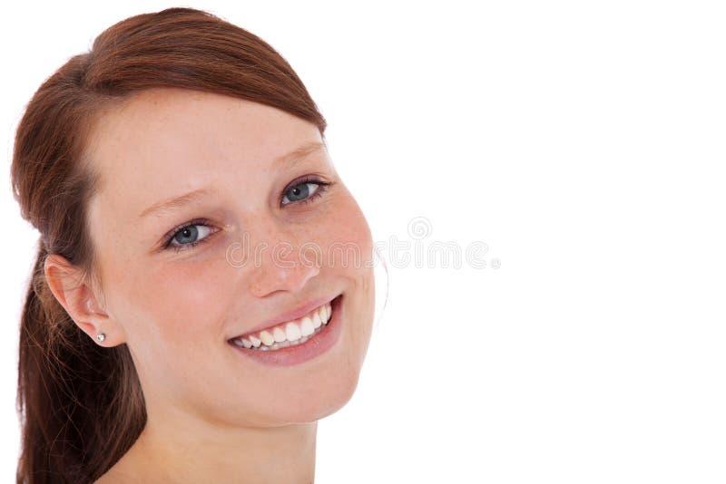 dziewczyny się uśmiecha fotografia stock