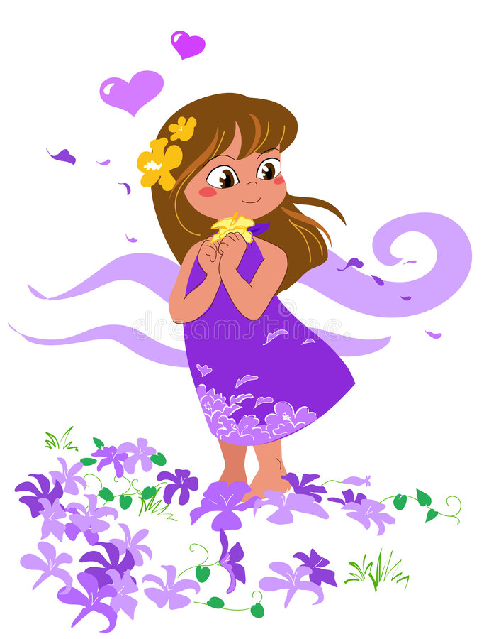 dziewczyny się wektor ilustracyjny royalty ilustracja