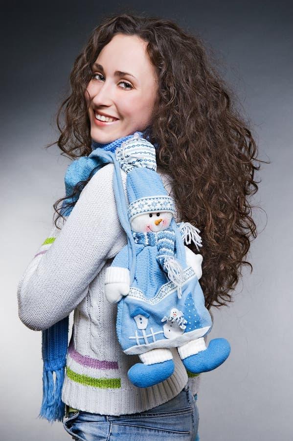 dziewczyny smiley bałwanu zabawka obrazy royalty free