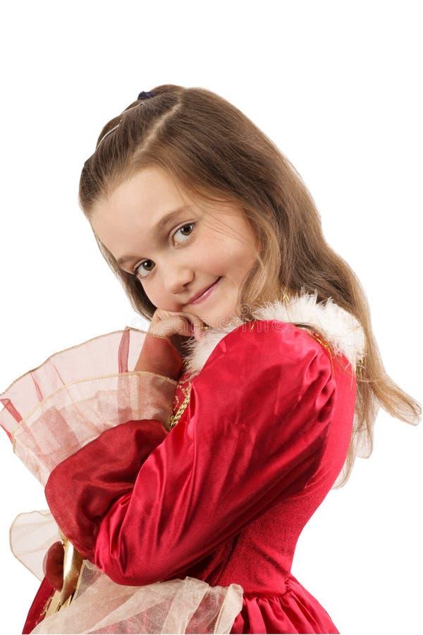 dziewczyny smokingowa czerwień zdjęcia stock