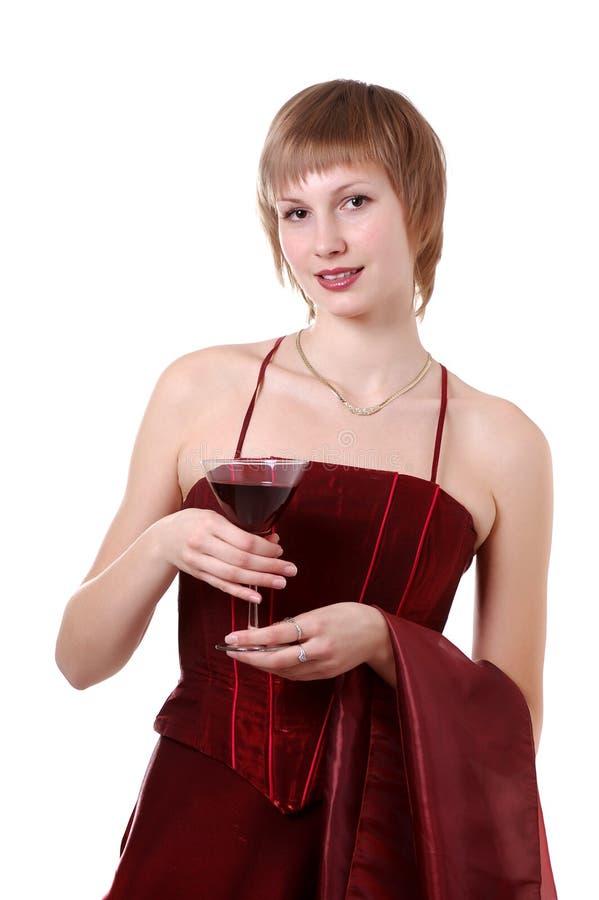 dziewczyny smokingowa czerwień fotografia royalty free