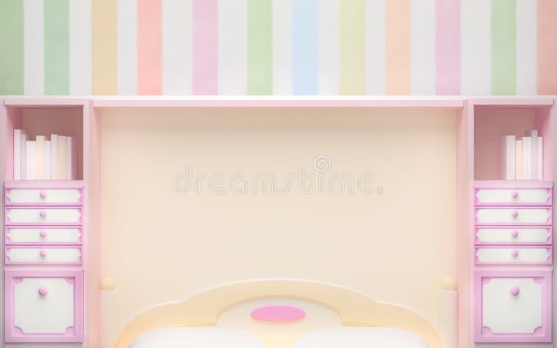 Dziewczyny sypialni tło ilustracja wektor
