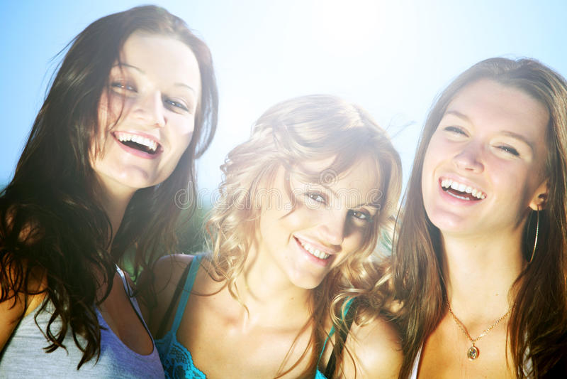 dziewczyny szczęśliwe obrazy stock
