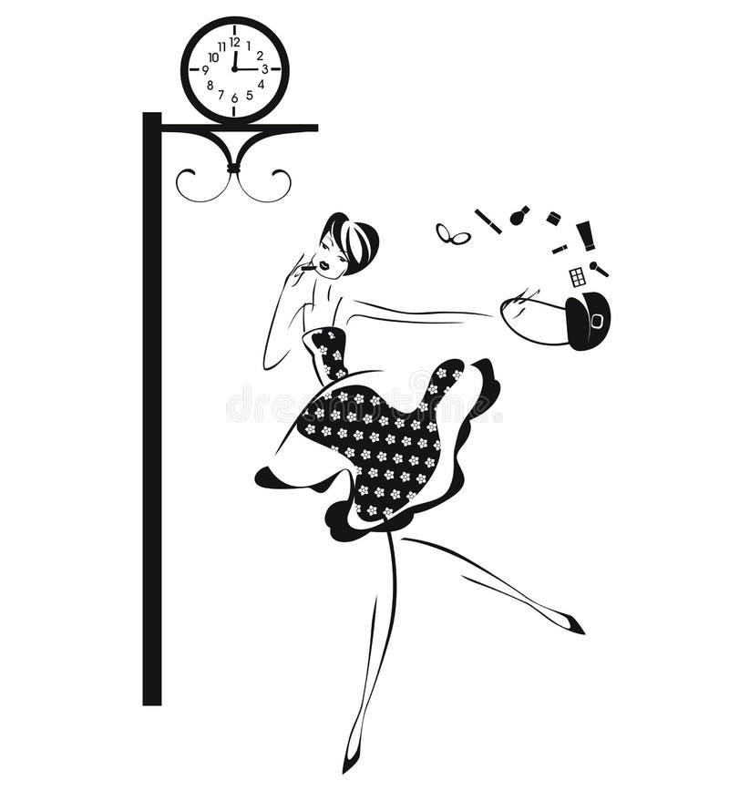 dziewczyny target2213_0_ ilustracja wektor