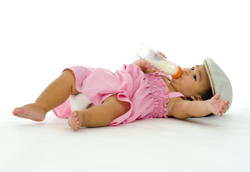 dziewczyny TARGET1381_0_ mleko trochę zdjęcia royalty free