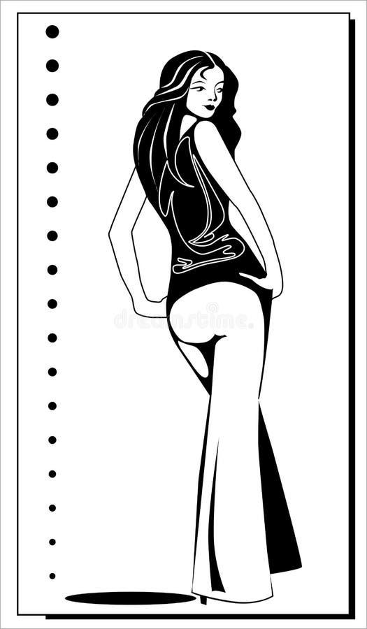 dziewczyny target1657_0_ ilustracja wektor