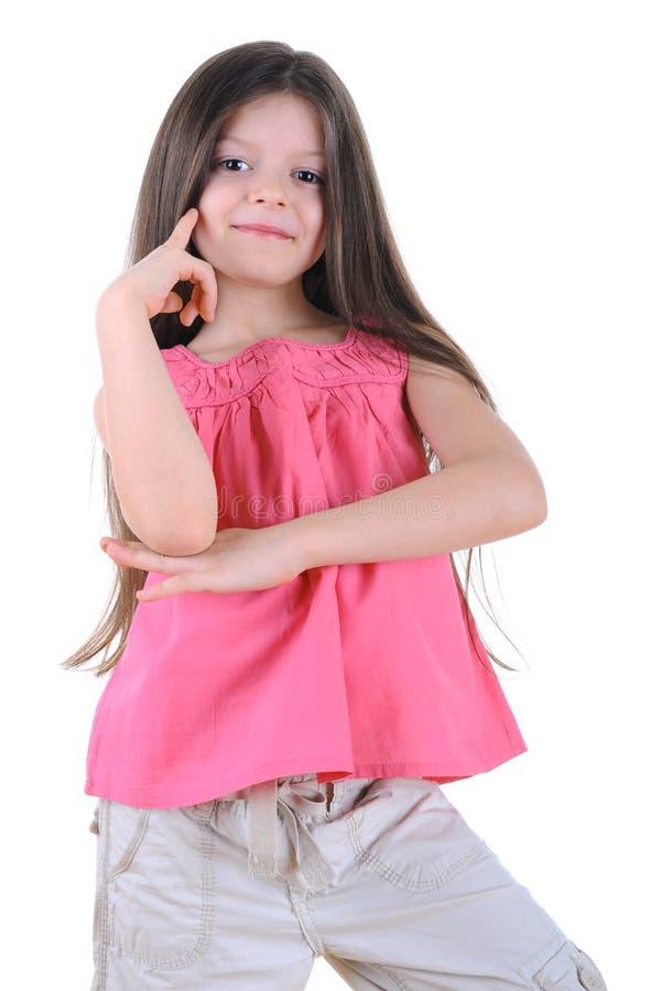 dziewczyny target2149_0_ szczęśliwy mały zdjęcie stock