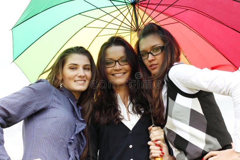 dziewczyny target847_0_ parasol obrazy royalty free