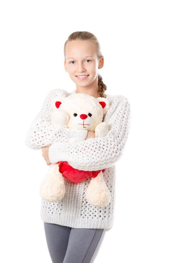 dziewczyny teddy bear obraz royalty free
