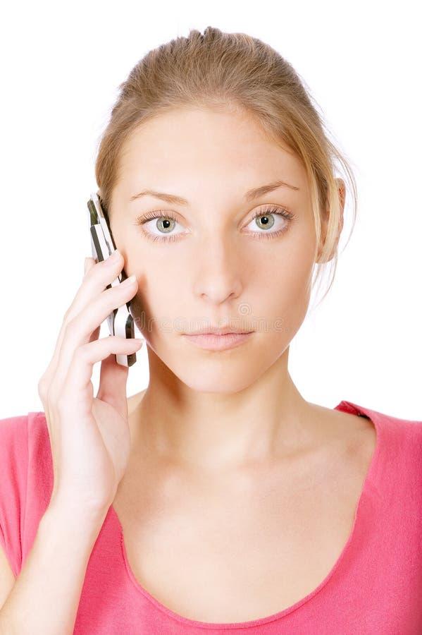 Download Dziewczyny Telefon Komórkowy Potomstwa Zdjęcie Stock - Obraz złożonej z komórkowy, związek: 13334408